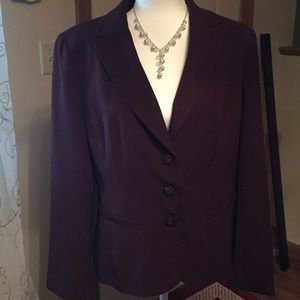 East 5th Blazer in a deep wine w/3 buttons